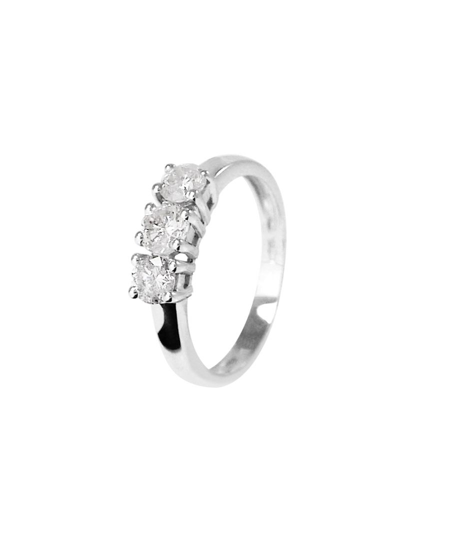 Image for DIADEMA - Ring - Trilogy Diamonds - White Gold