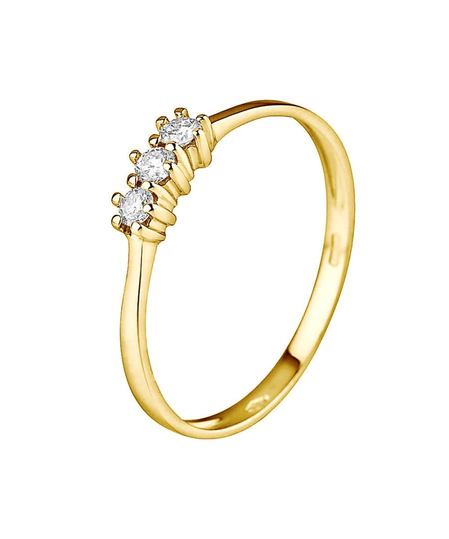 Image for DIADEMA - Ring - Trilogy Diamond - Yellow Gold