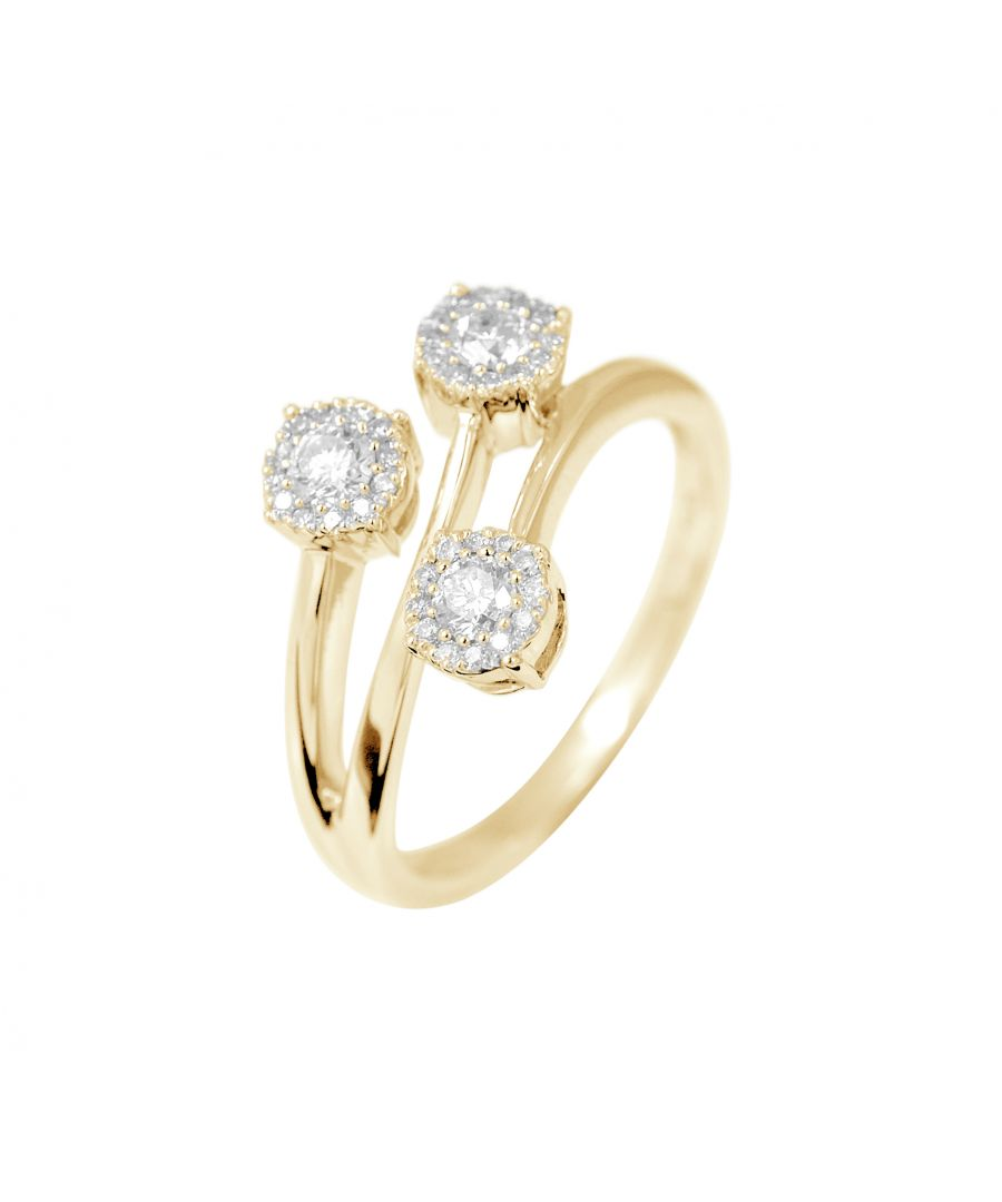 Image for DIADEMA - Ring - Trilogy Diamonds - Yellow Gold