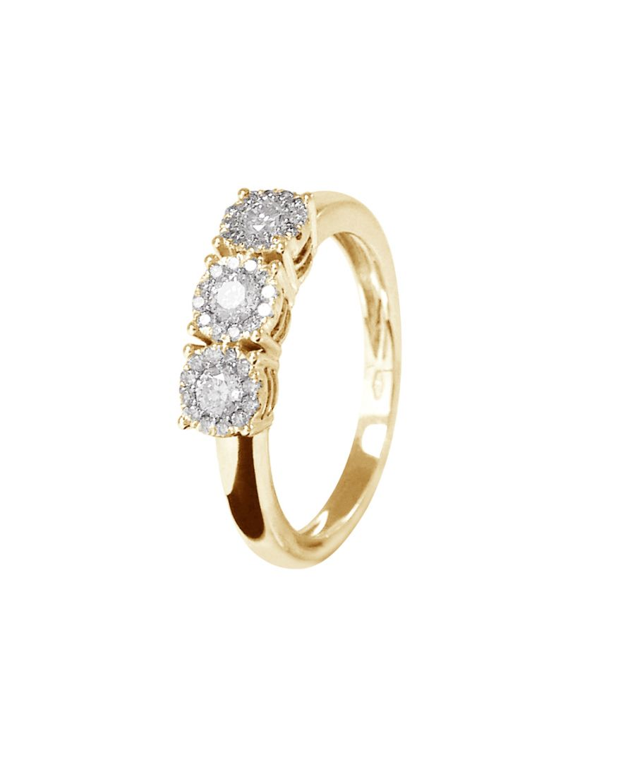 Image for DIADEMA - Ring - Trilogy Diamonds- Yellow Gold