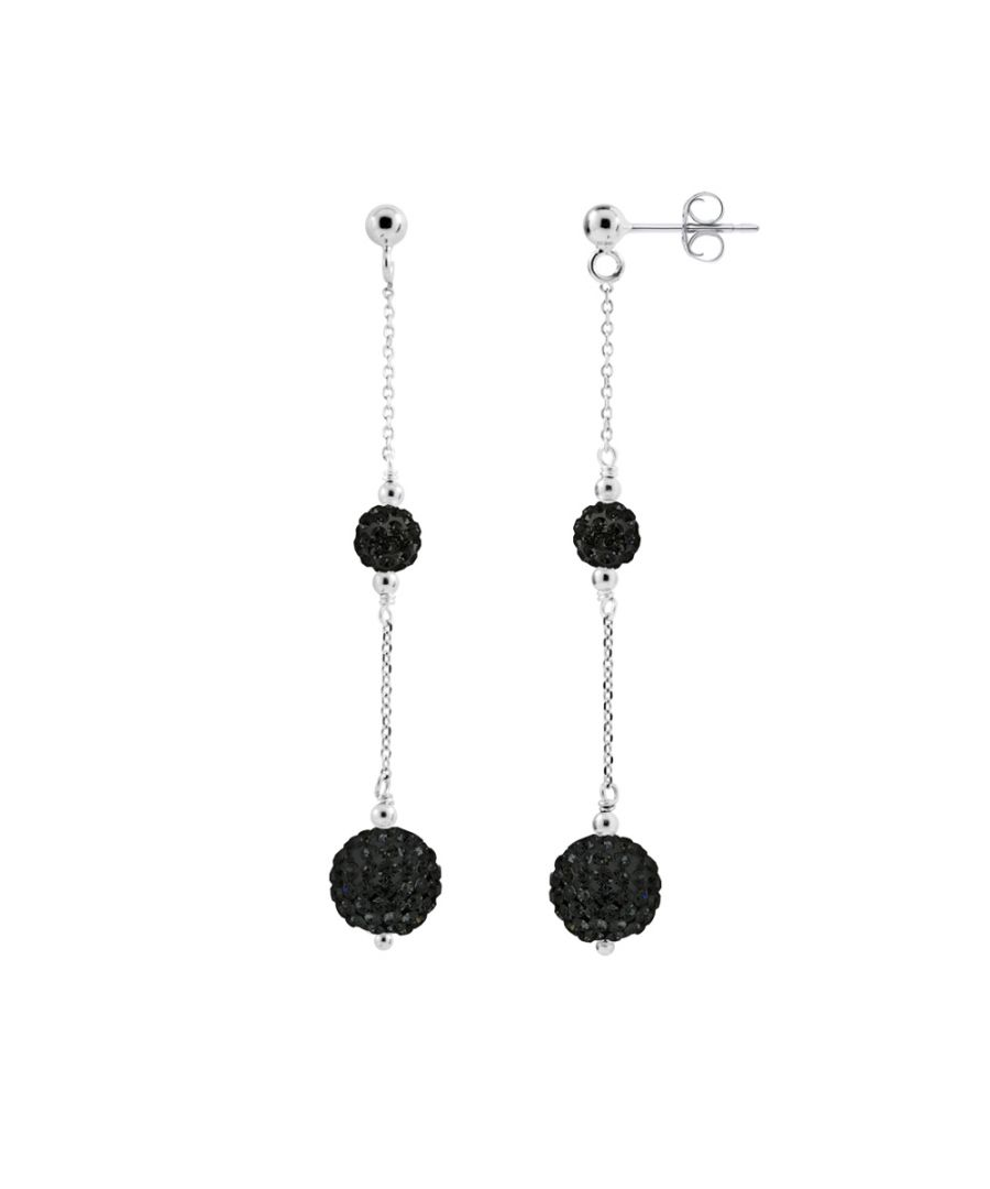 Image for DIADEMA - Earrings Black Night -  Collection Crystal Pearl