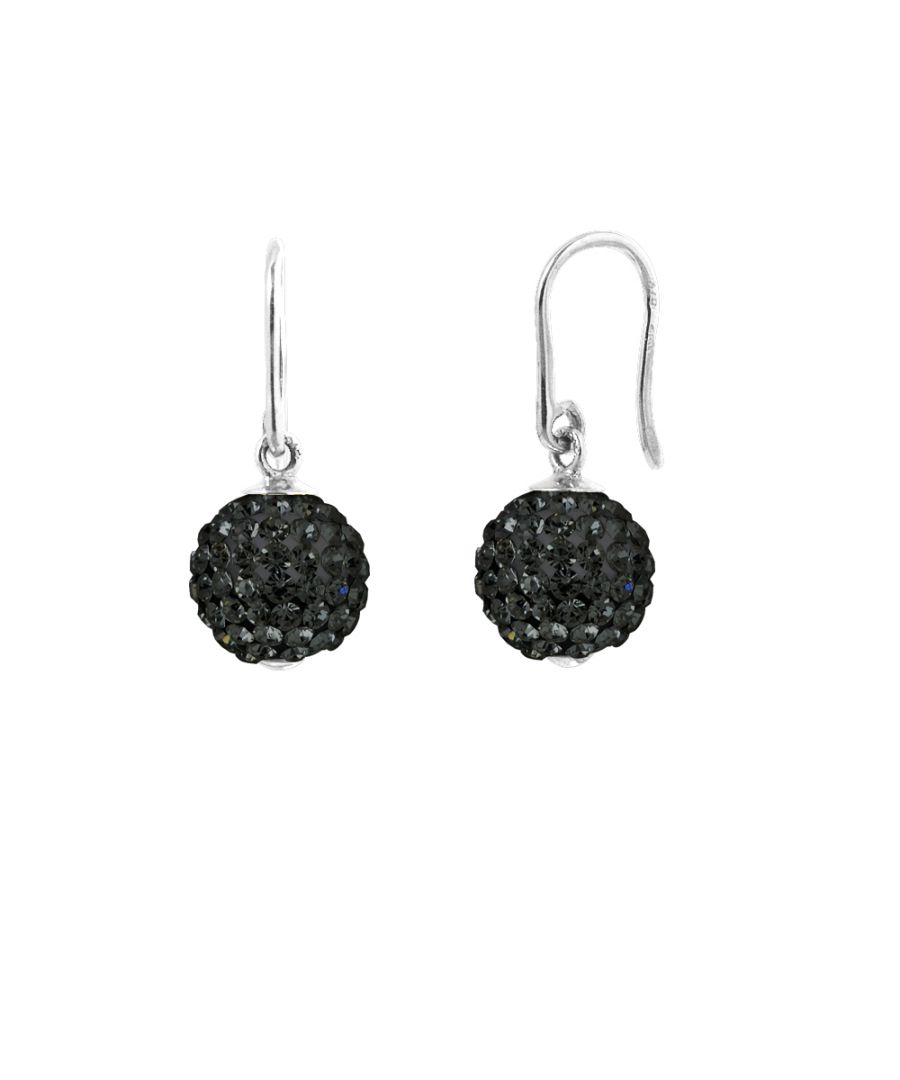 Image for DIADEMA - Earrings Black Night - Crystal Black - Collection Crystal Pearl