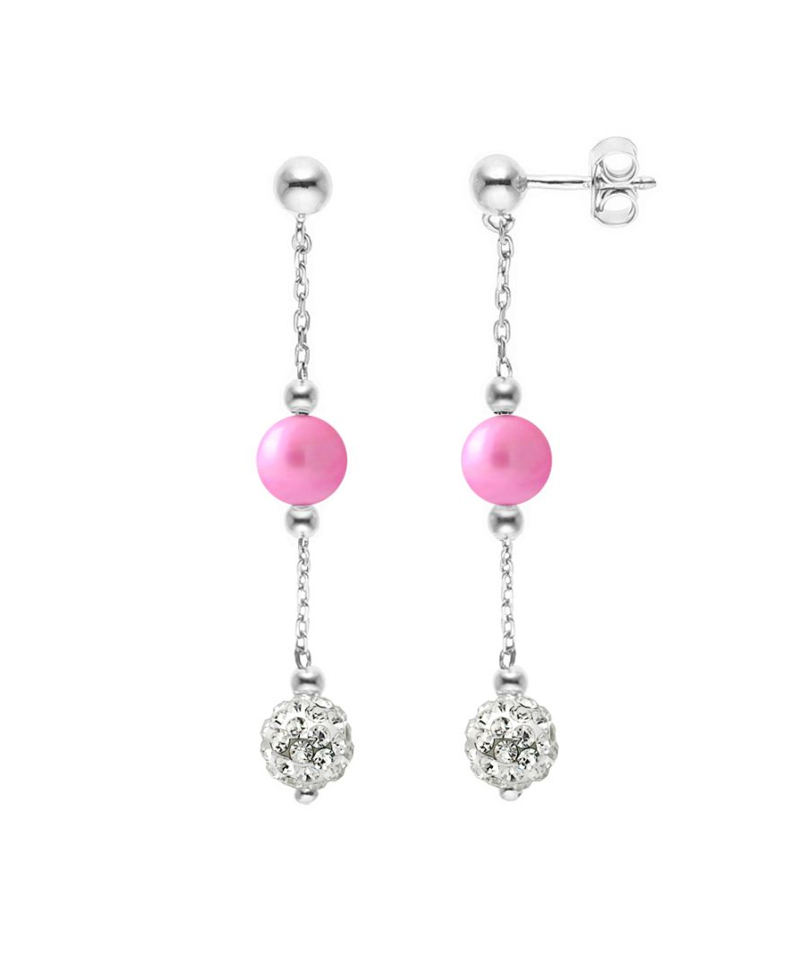 Image for DIADEMA - Earrings - Crystal White & Pearls - Collection Crystal Pearl