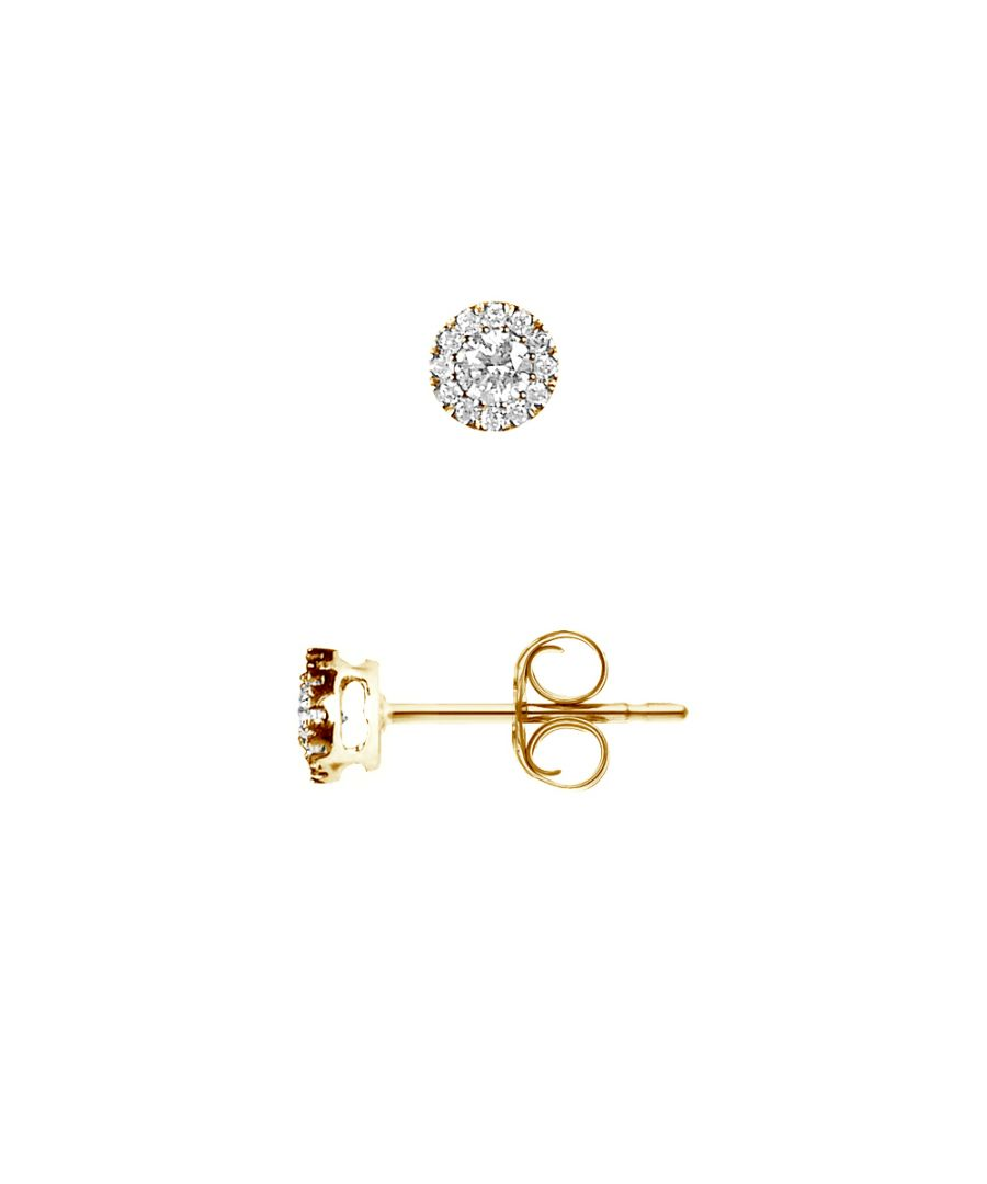 Image for DIADEMA - Earrings with Diamonds - Yellow Gold