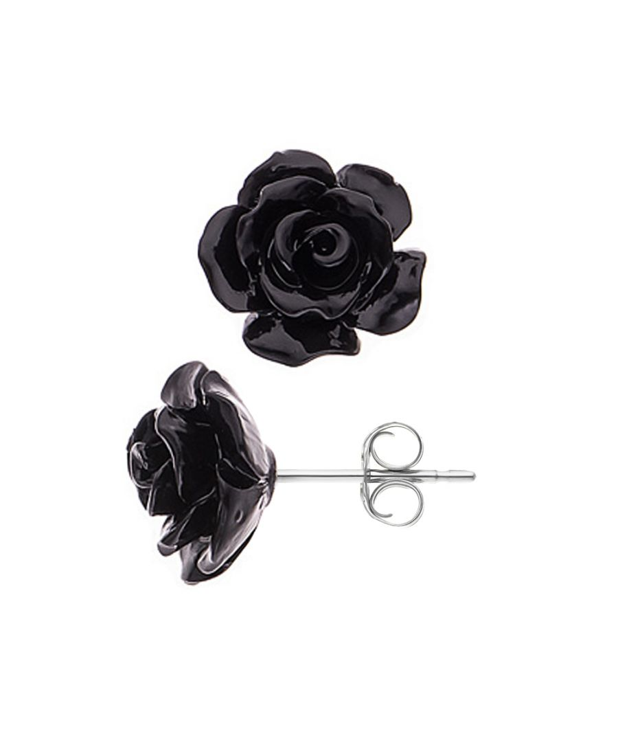Image for DIADEMA - Earrings - Black Rose - Love Jewelry Collection