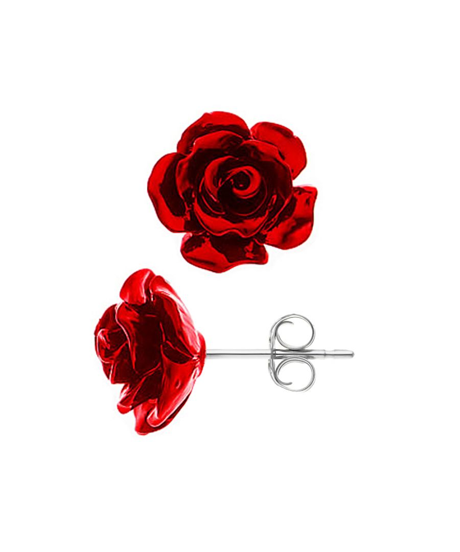Image for DIADEMA - Earrings - Red Rose - Love Jewelry Collection