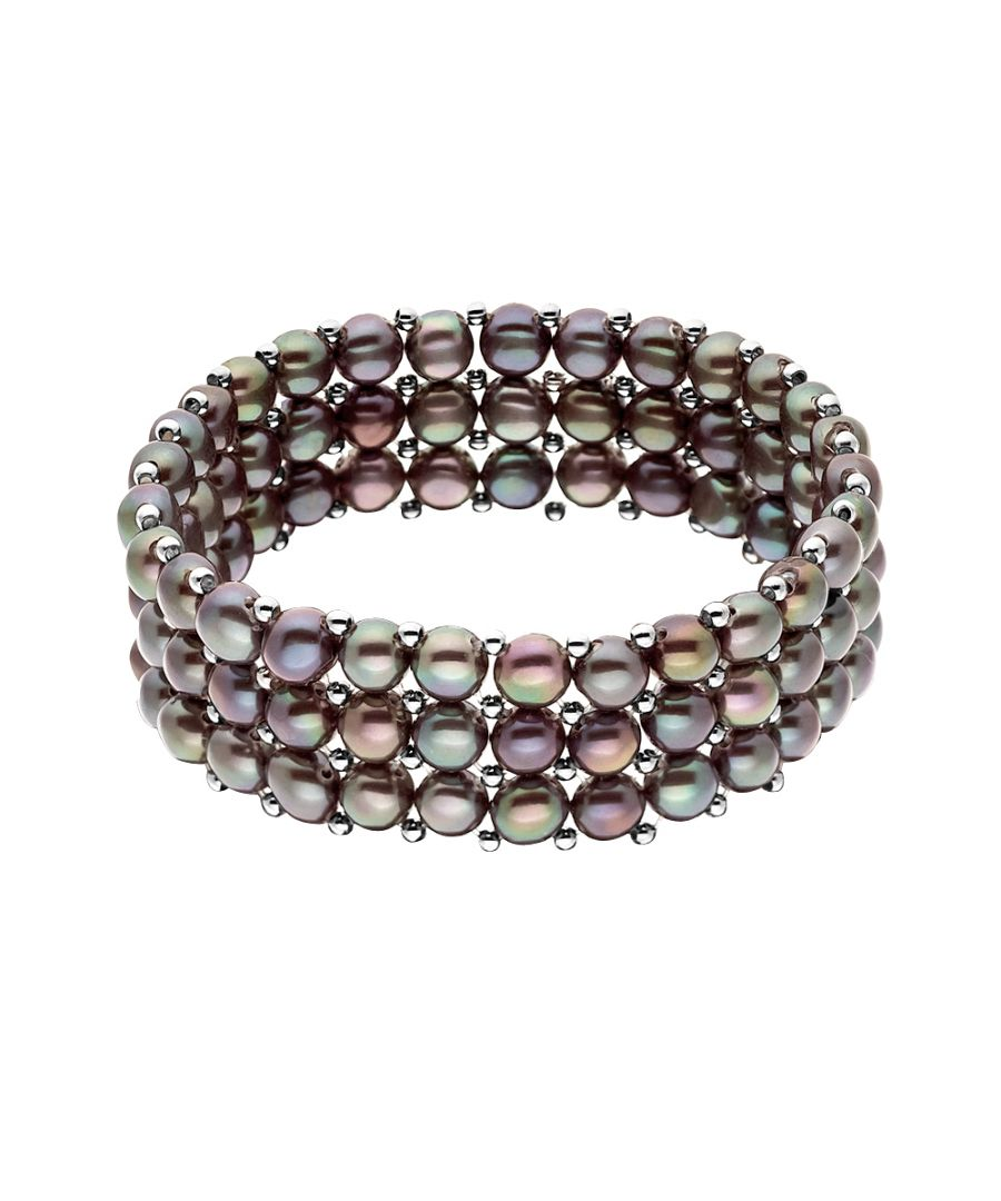 Image for DIADEMA - Bracelet - Real Freshwater Pearls - Black Tahitian Style