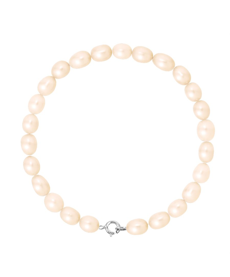 Image for DIADEMA - Bracelet - Real Freshwater Pearls - Pink - White Gold