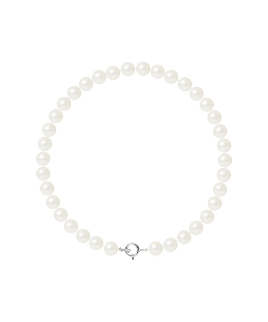 Image for DIADEMA - Bracelet - Real Freshwater Pearls - White - White Gold
