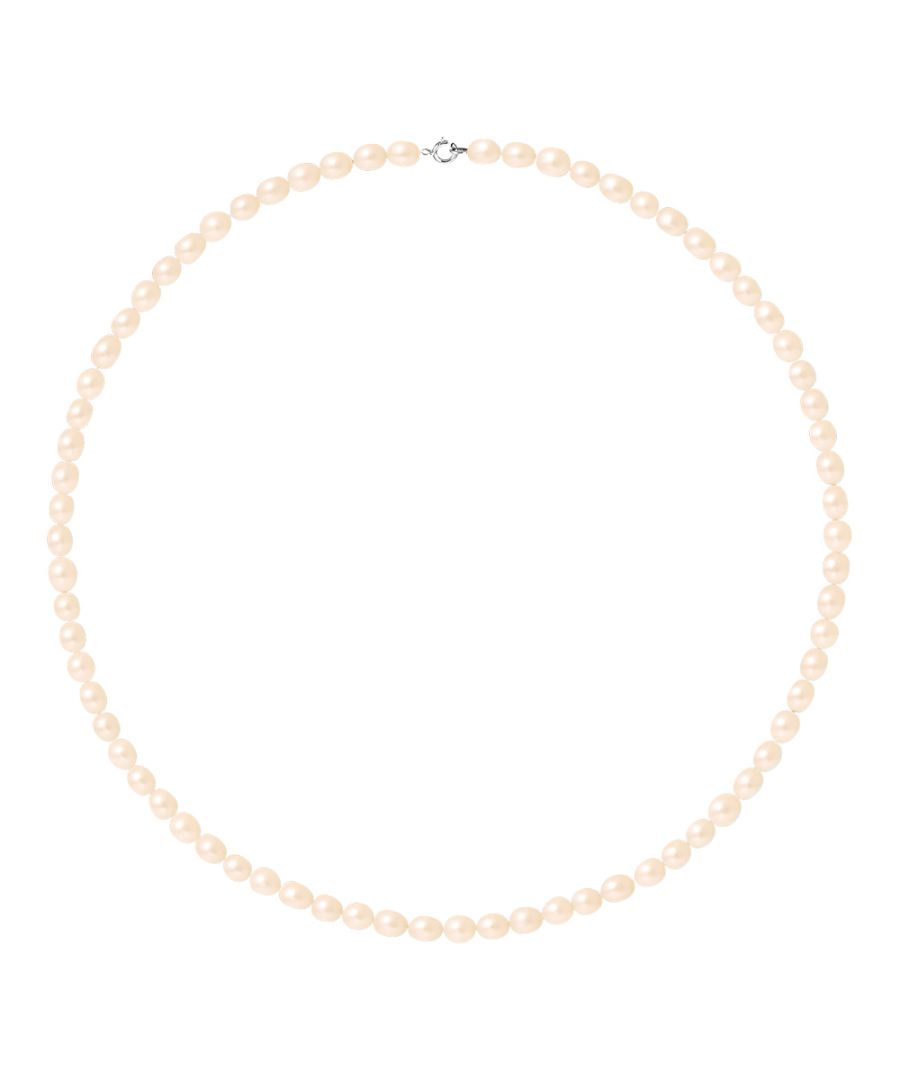 Image for DIADEMA - Necklace - Real Freshwater Pearls - White - Pink - White Gold