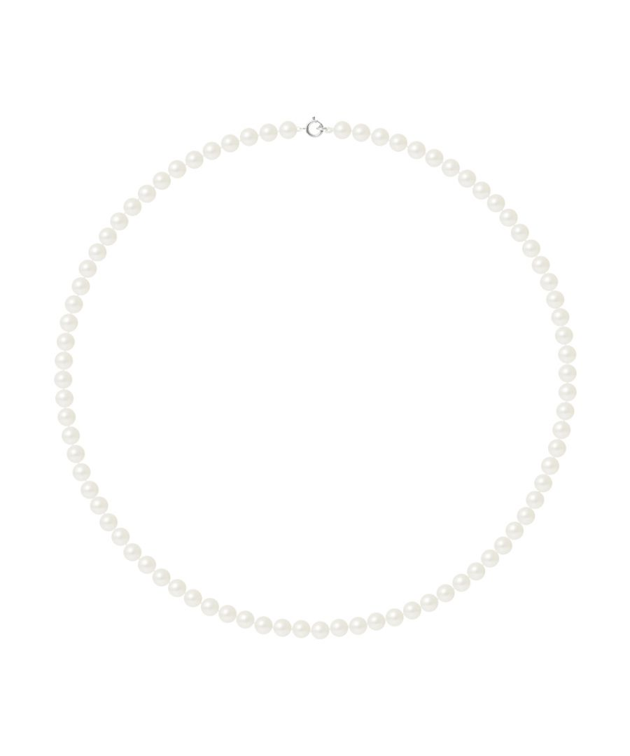 Image for DIADEMA - Necklace - Real Freshwater Pearls - White - White Gold