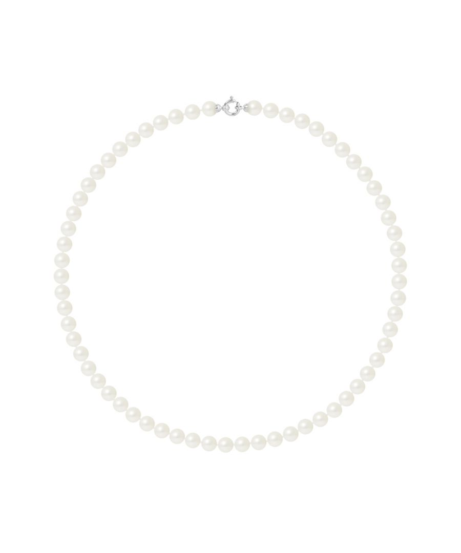 Image for DIADEMA - Necklace - Princess - Real Freshwater Pearls - White - White Gold