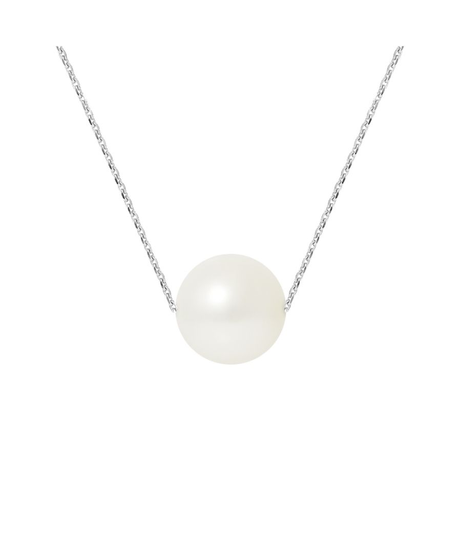 Image for DIADEMA - Necklace - Real Freshwater Pearls - Cable Chain in White Gold