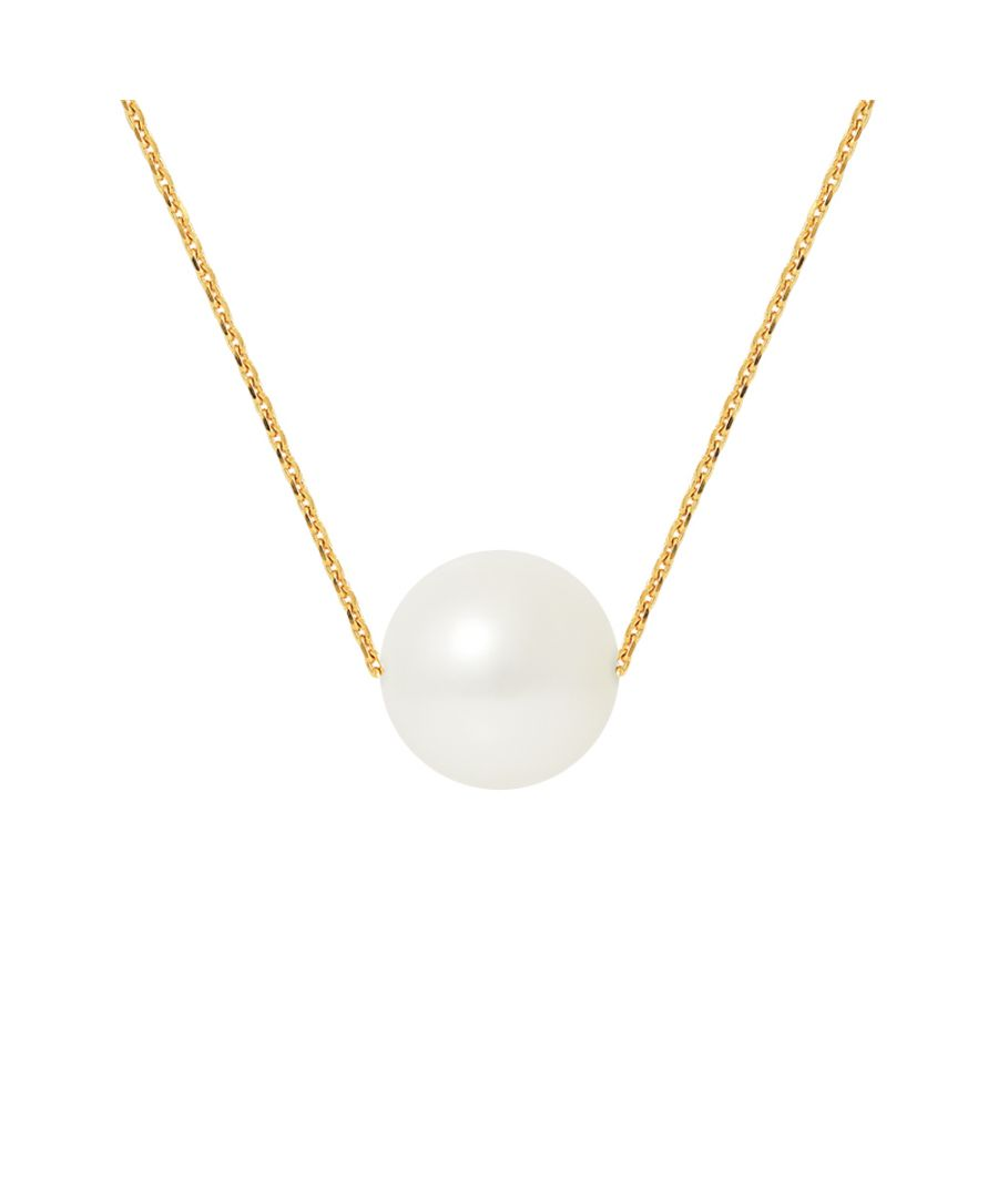 Image for DIADEMA - Necklace - Real Freshwater Pearls - Cable Chain in Yellow Gold