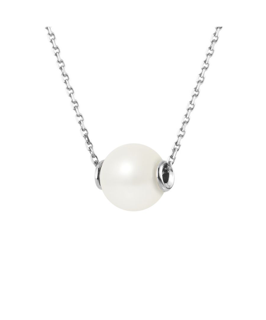 Image for DIADEMA - Necklace - Silver and Real Freshwater Pearls - White