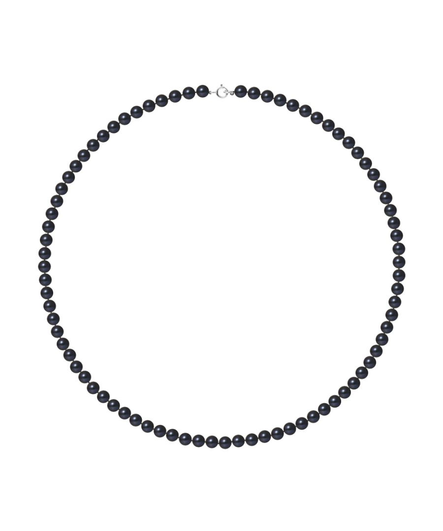 Image for DIADEMA - Necklace - Real Freshwater Pearls - Black Tahitian Style