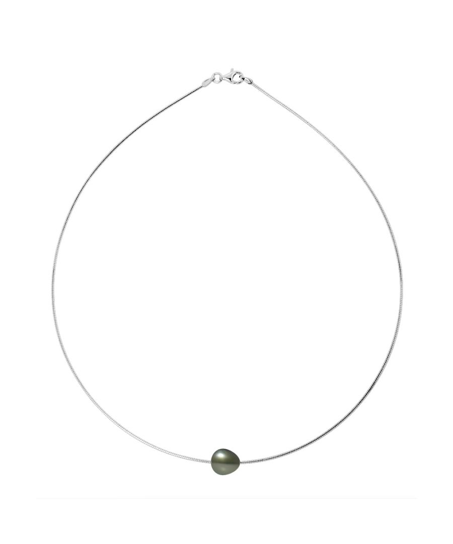Image for DIADEMA - Necklace - Omega - Silver and Tahitian Pearl