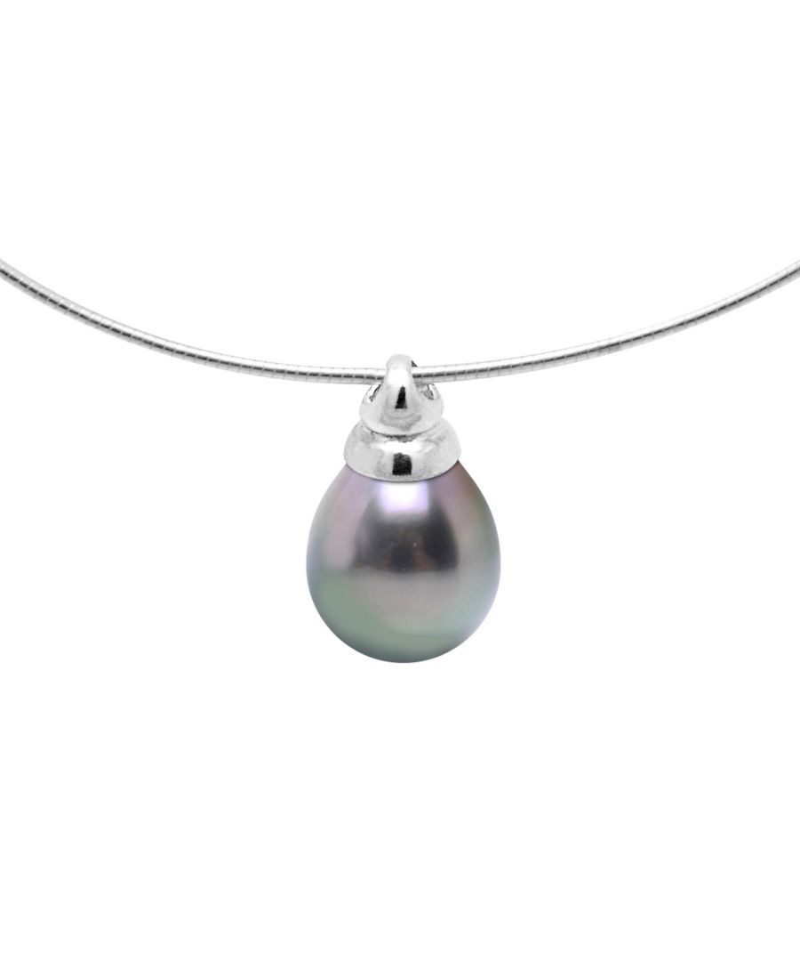 Image for DIADEMA - Necklace - Omega - Tahitian Pearl - Silver