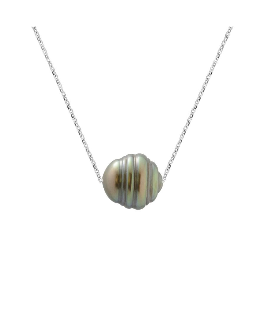 Image for DIADEMA - Necklace - Tahitian Pearl - Cable Chain - Diamonds