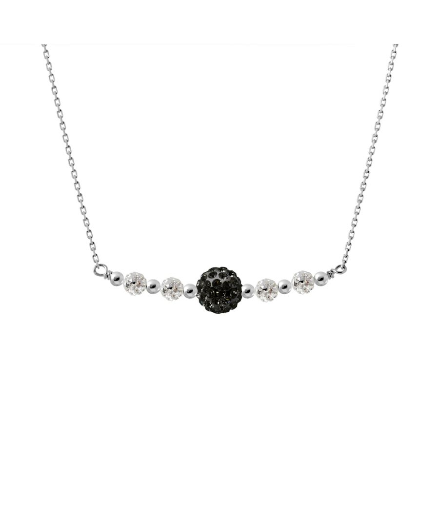 Image for DIADEMA - Black Crystal Necklace - Love Jewelry Collection