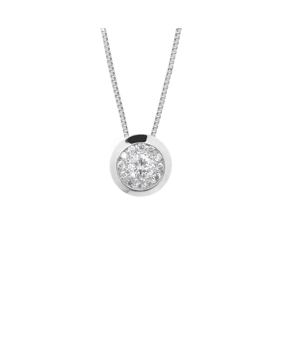 Image for DIADEMA - Necklace with Diamonds - White Gold - Venetian Chain
