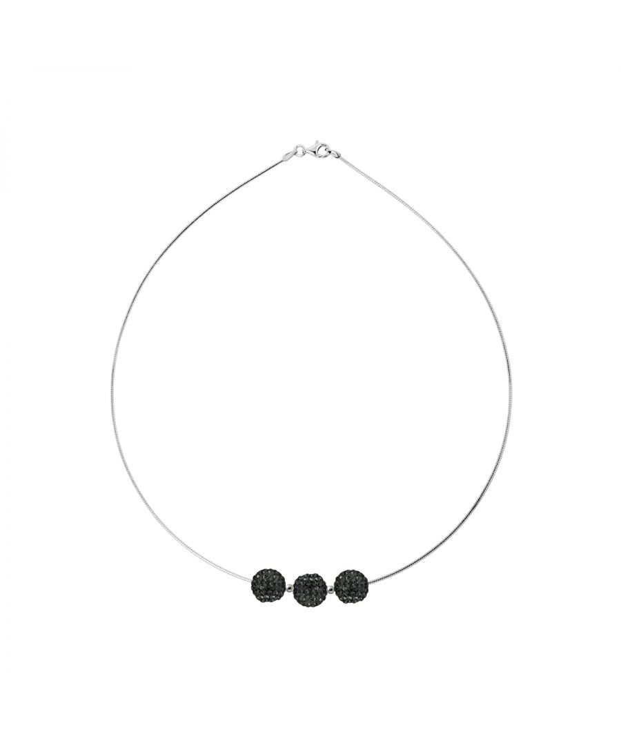 Image for DIADEMA - Trilogy Necklace Black Night - Black Crystal - Love Jewelry Collection