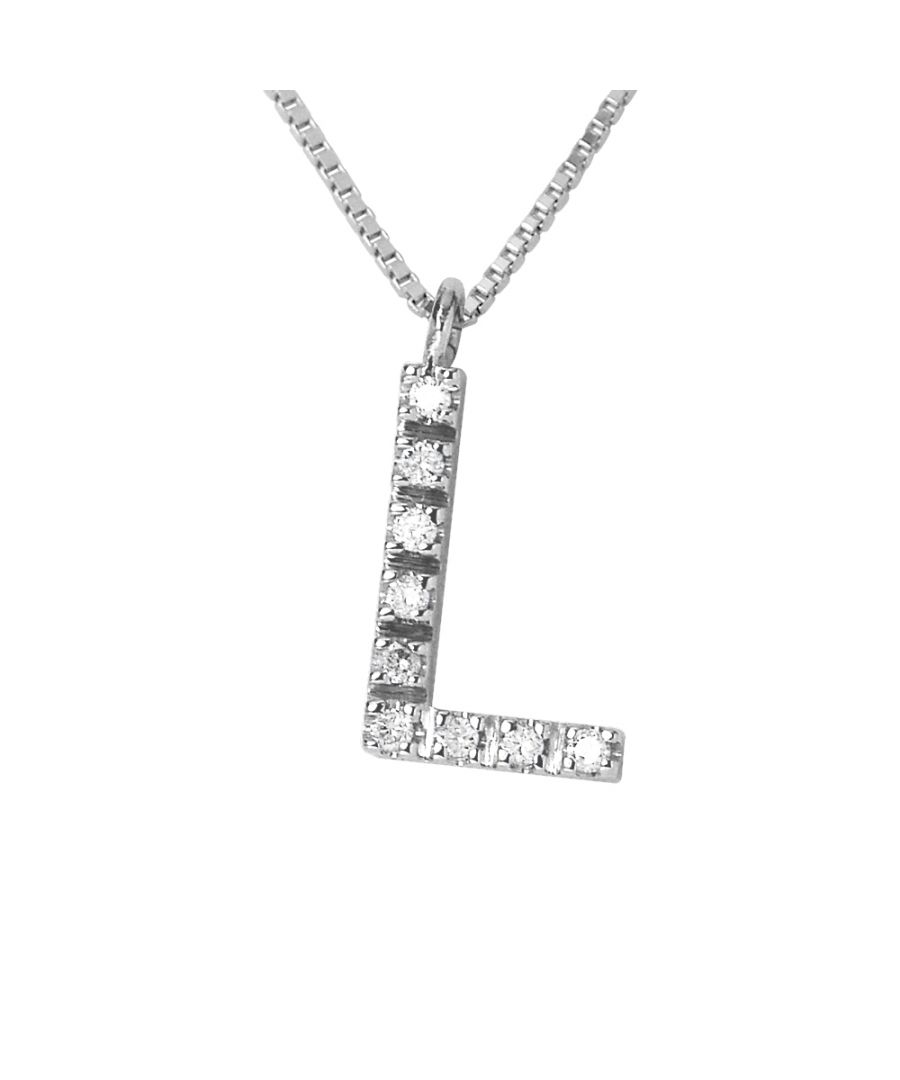 Image for DIADEMA - Necklace with Diamonds - L - White Gold