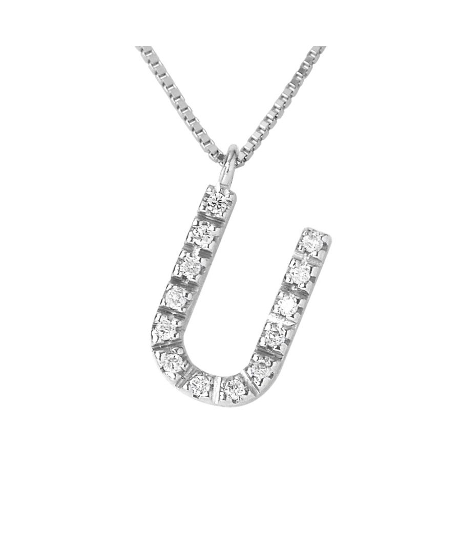 Image for DIADEMA - Necklace with Diamonds - U - White Gold