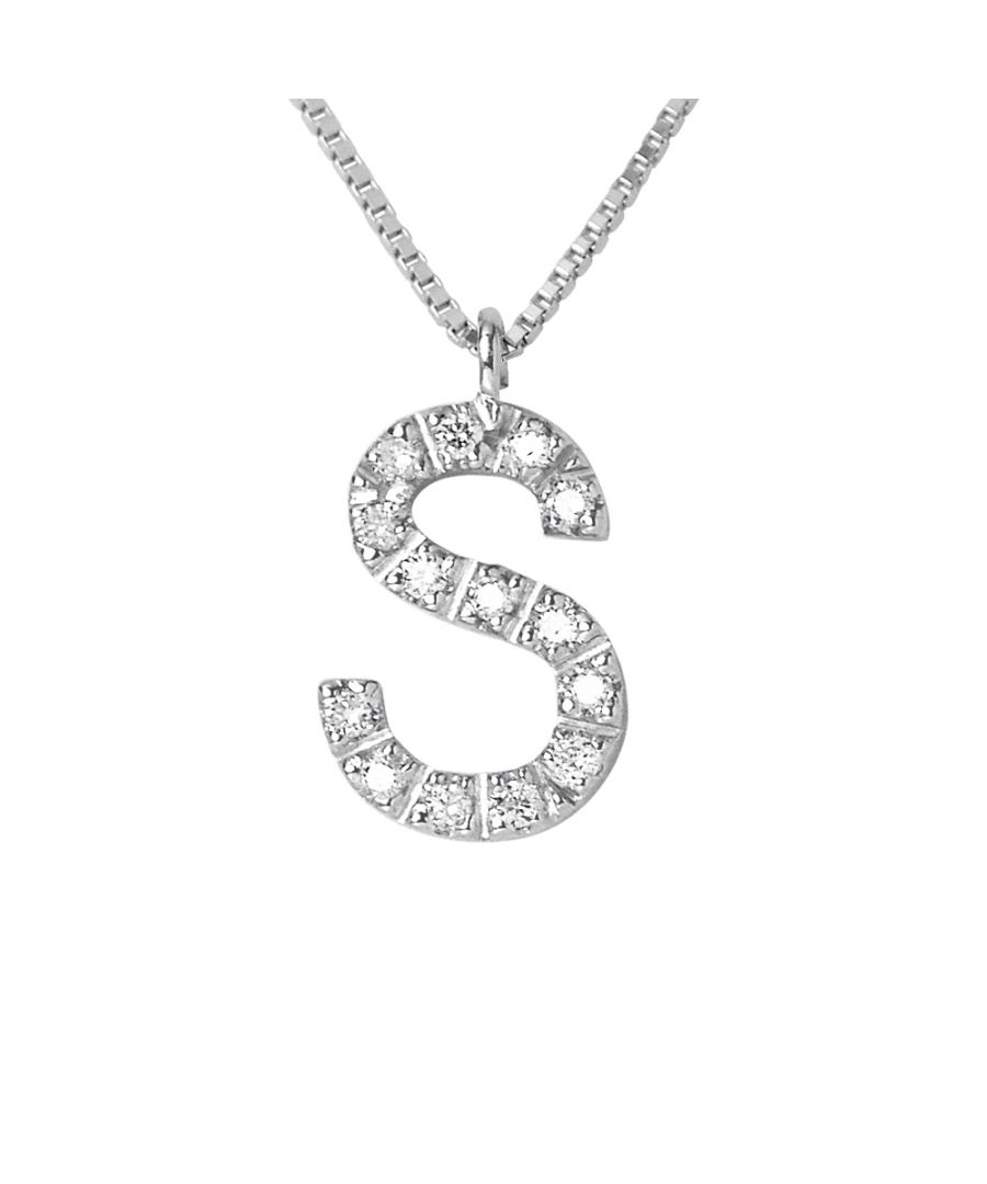Image for DIADEMA - Necklace with Diamonds - S - White Gold