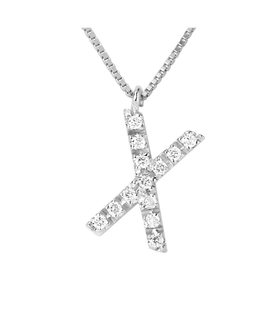Image for DIADEMA - Necklace with Diamonds - X - White Gold