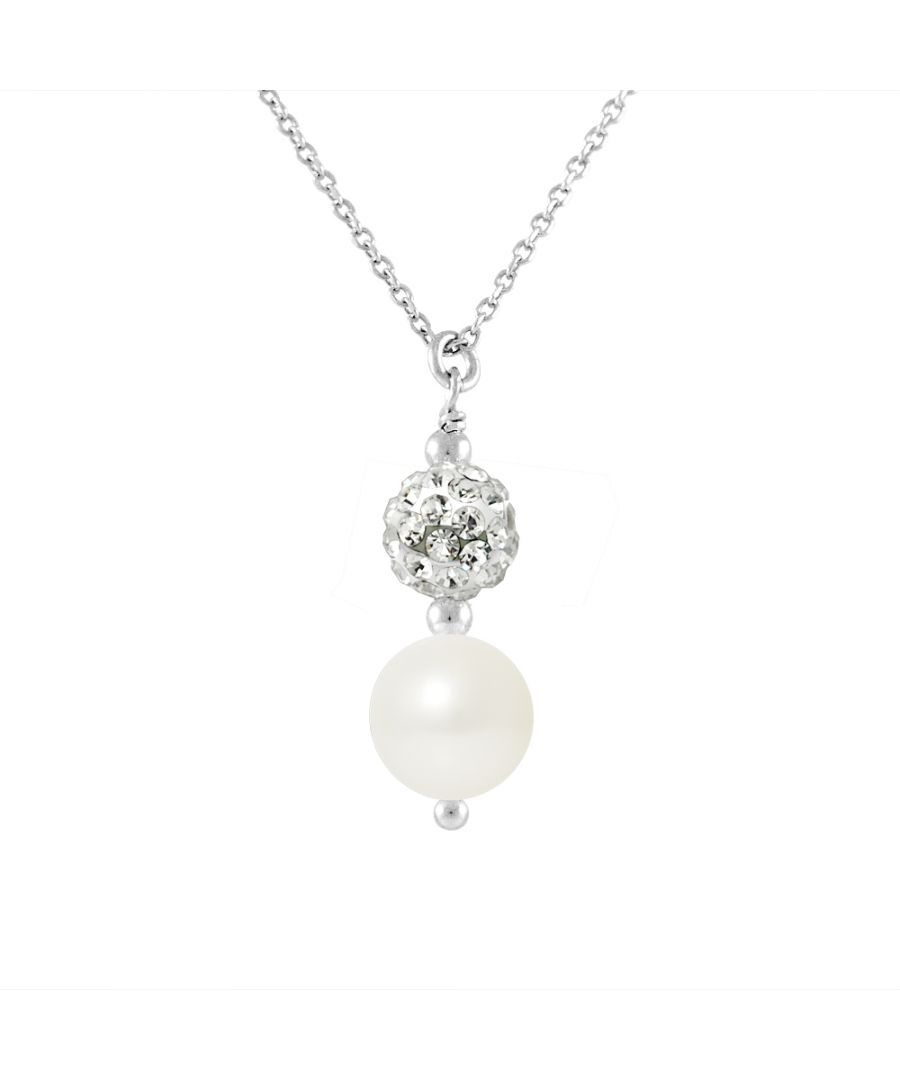 Image for DIADEMA - Necklace - White Crystal & Pearl - Love Jewelry Collection