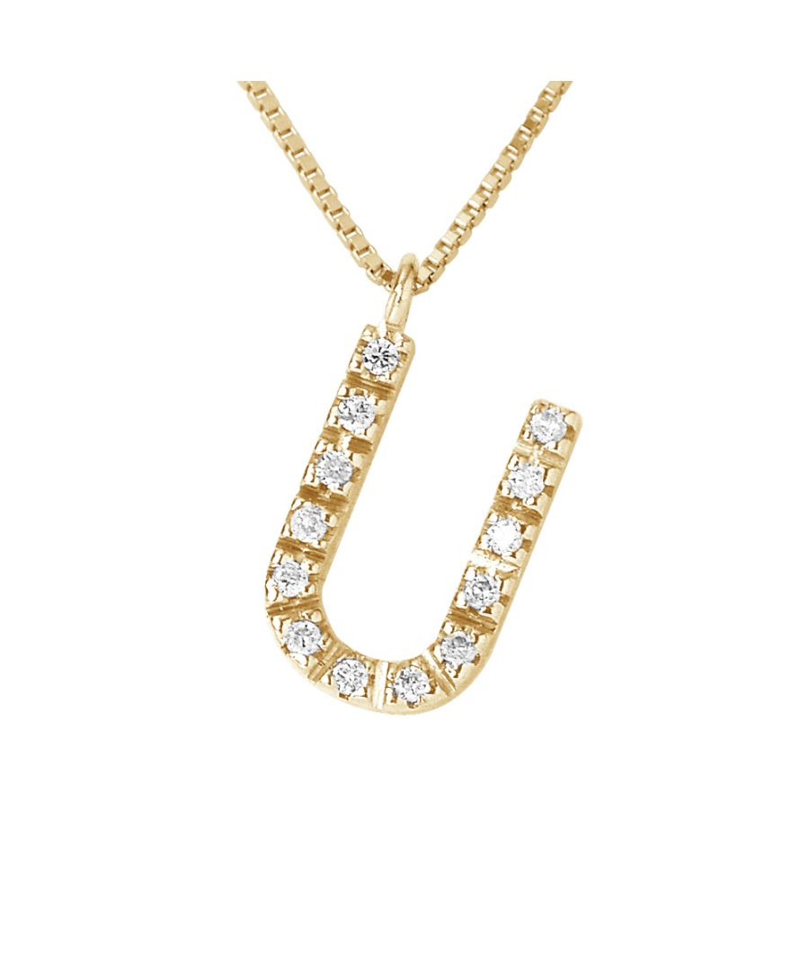 Image for DIADEMA - Necklace with Diamonds - U - Yellow Gold