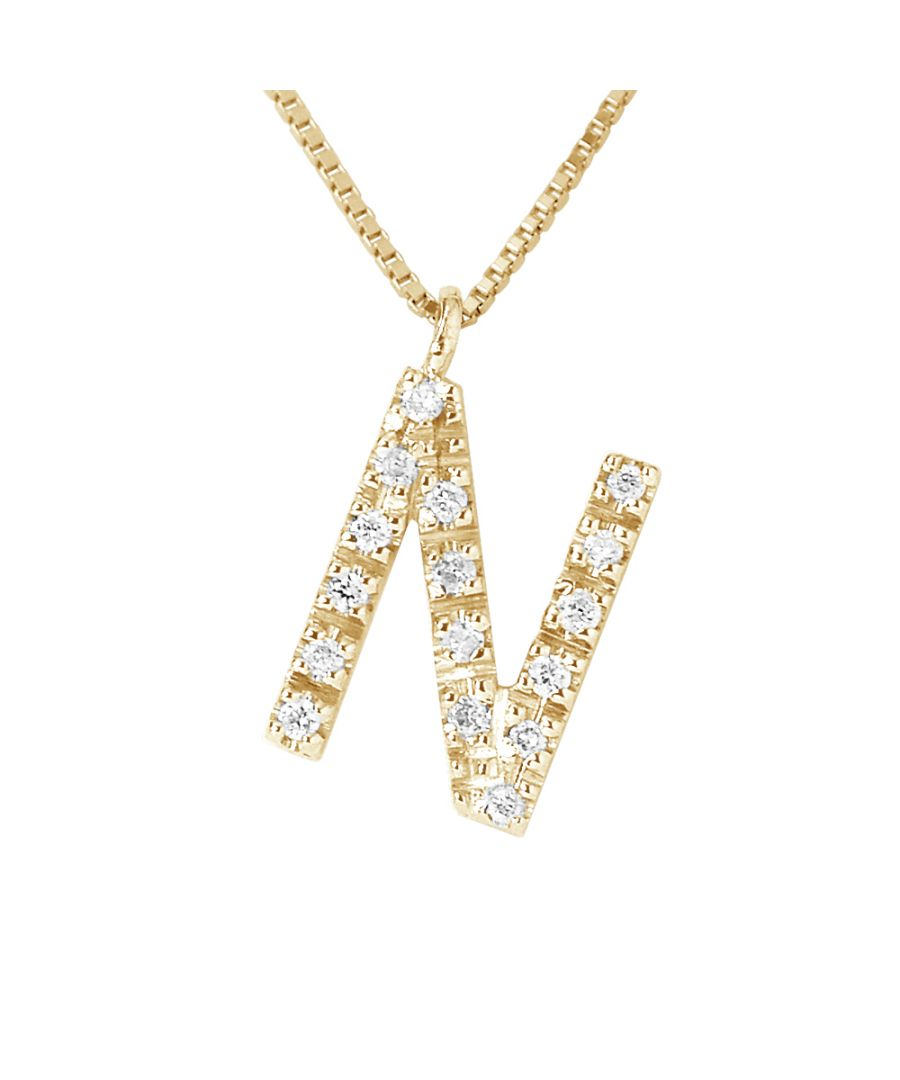 Image for DIADEMA - Necklace with Diamonds - N - Yellow Gold