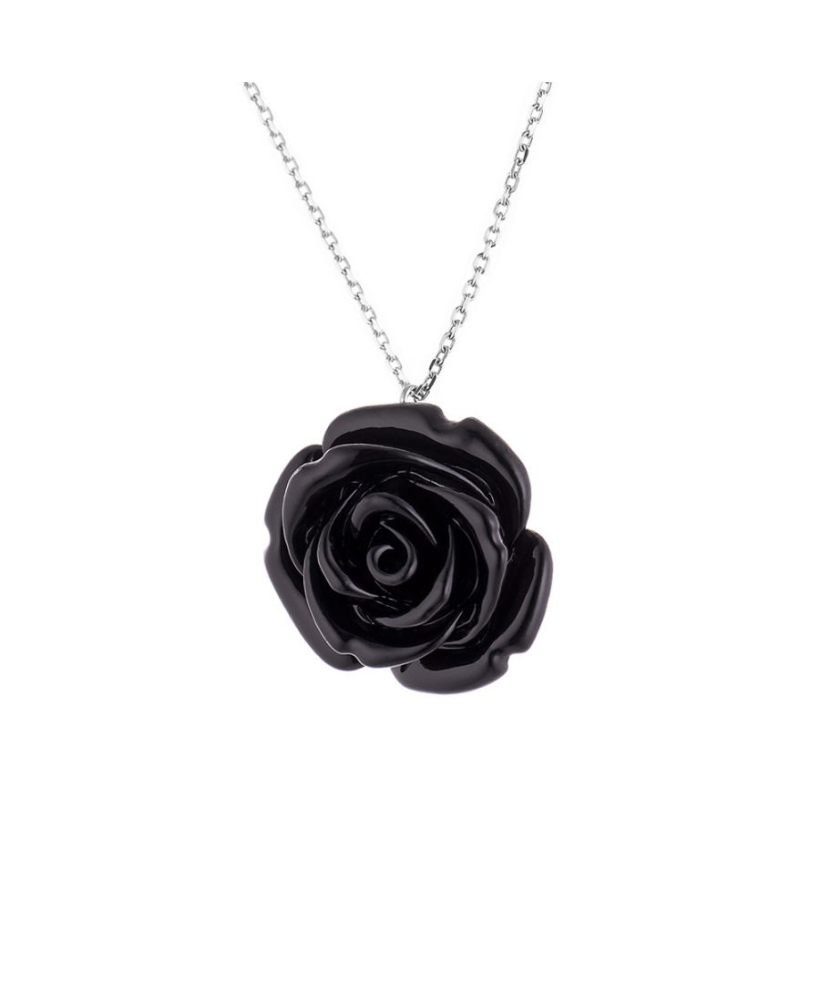 Image for DIADEMA - Necklace - Black Rose - Love Jewelry Collection