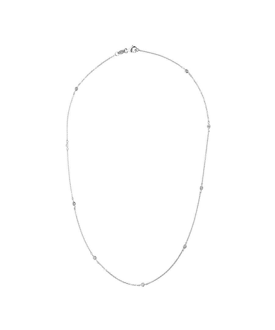 Image for DIADEMA - Necklace Tiffany's - 9 Diamonds - White Gold
