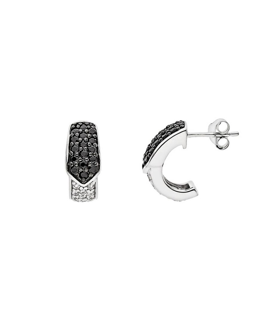 Image for DIADEMA - Earrings - Black & White - Love Jewelry Collection