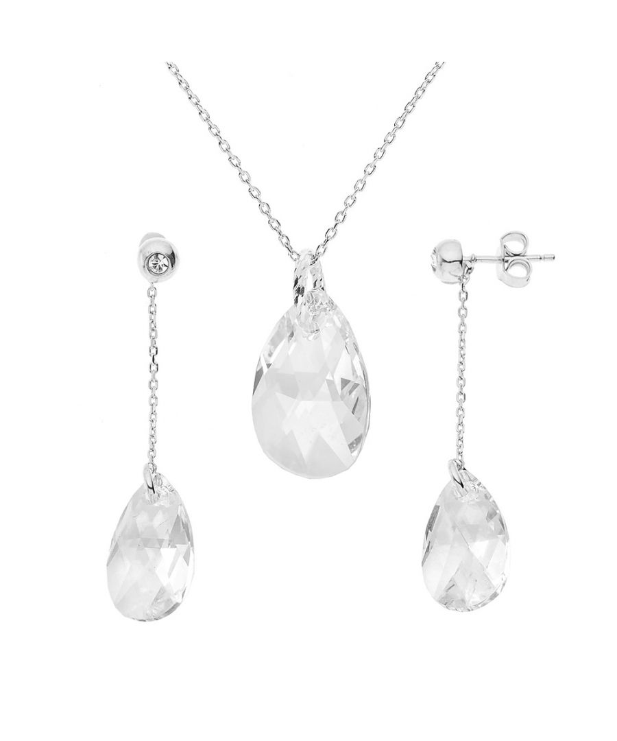 Image for DIADEMA - Set Forever Swarovski - Necklace, Earrings - Love Jewelry Collection