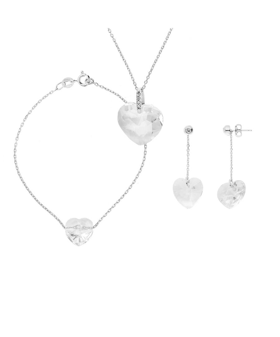 Image for DIADEMA - Set Swarovski Heart - Necklace, Bracelet, Earrings - Love Jewelry Collection