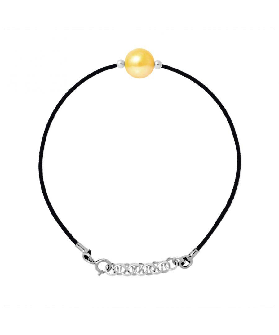 Image for DIADEMA - Bracelet - Black Nylon - Freshwater Pearl - Gold