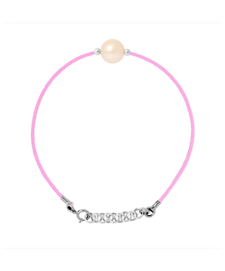 Image for DIADEMA - Bracelet - Pink Nylon - Freshwater Pearl - Pink