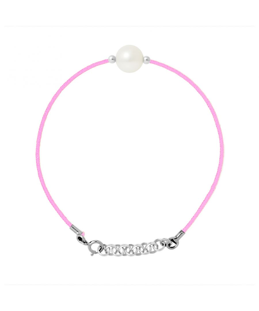 Image for DIADEMA - Bracelet - Pink Nylon - Freshwater Pearl - White