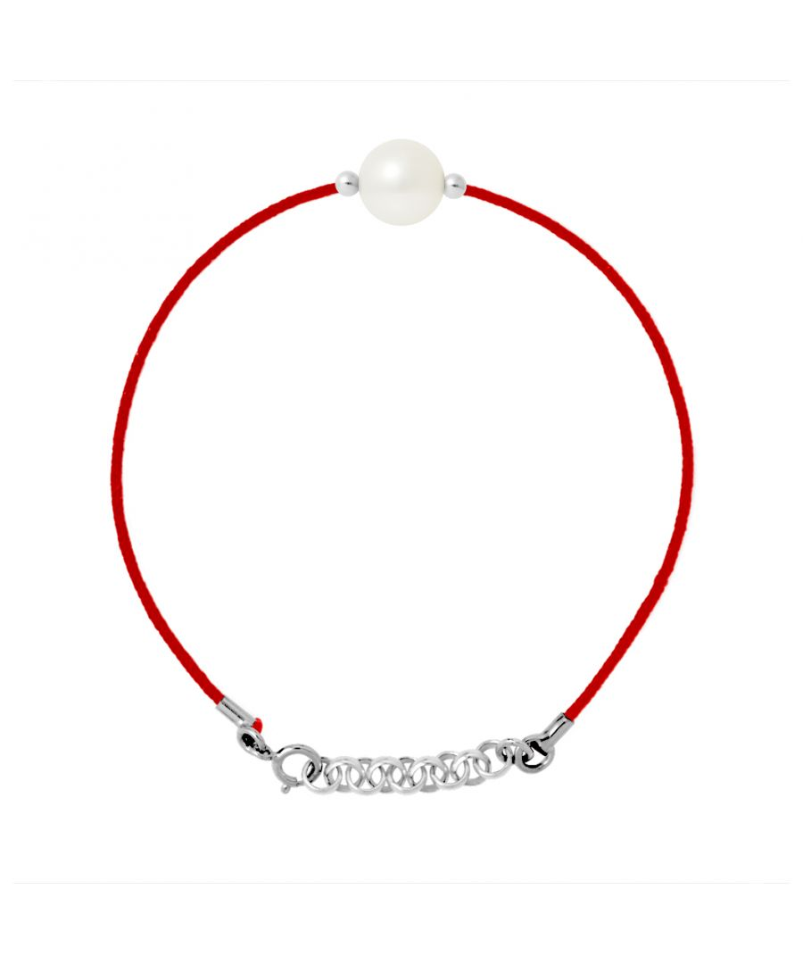 Image for DIADEMA - Bracelet - Red Nylon - Freshwater Pearl - White
