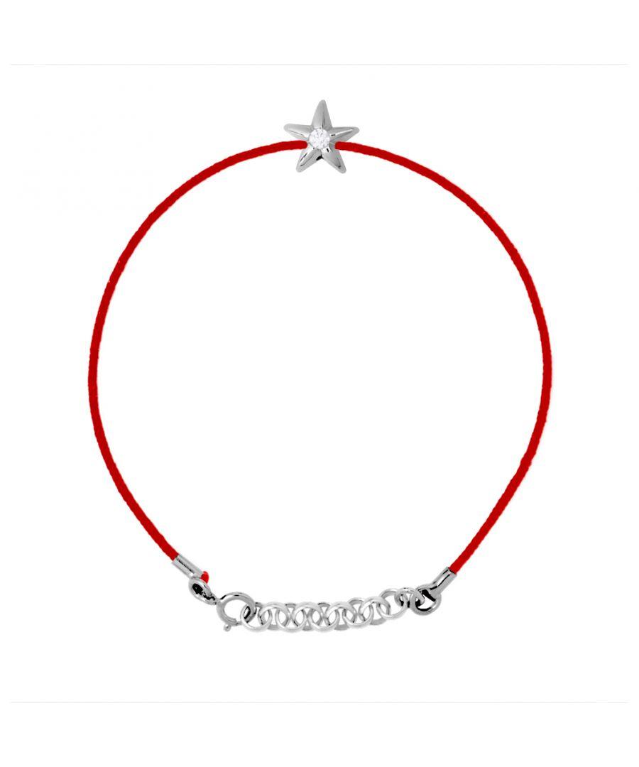 Image for DIADEMA - Bracelet - Red Nylon - Heart - Real Diamond