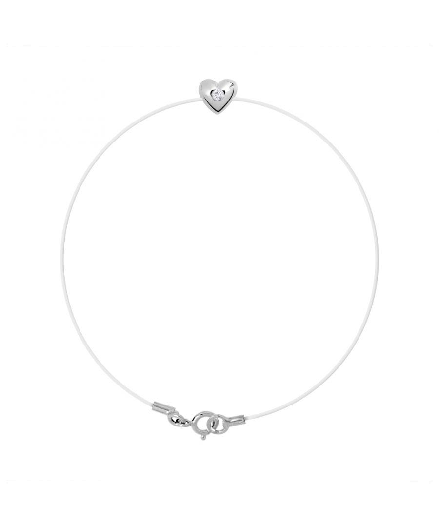 Image for DIADEMA - Bracelet - Transparent Nylon - Heart - Real Diamond