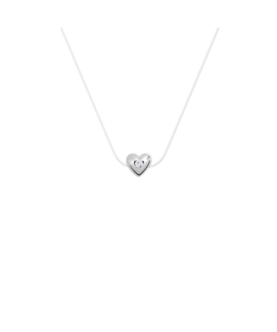 Image for DIADEMA - Necklace - Nylon - Heart - Real Diamond