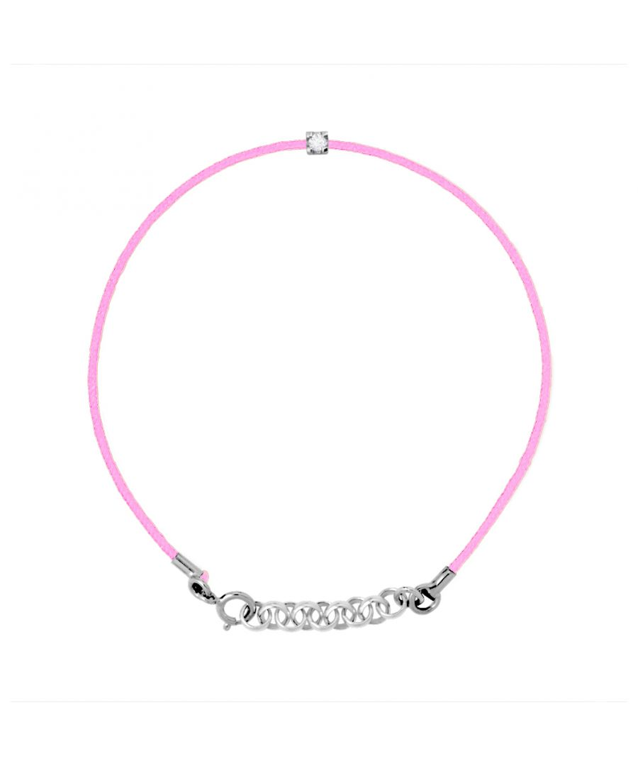Image for DIADEMA - Bracelet - Pink Nylon - Real Diamond