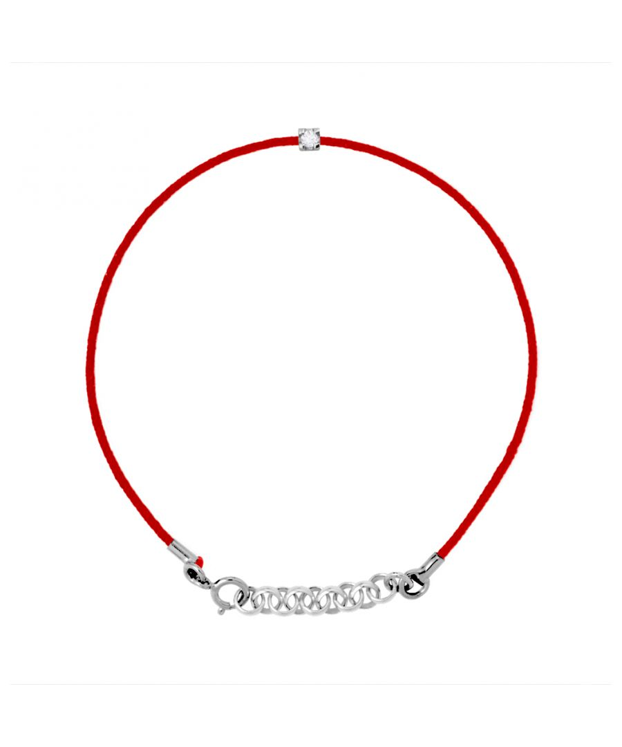 Image for DIADEMA - Bracelet - Red Nylon - Real Diamond