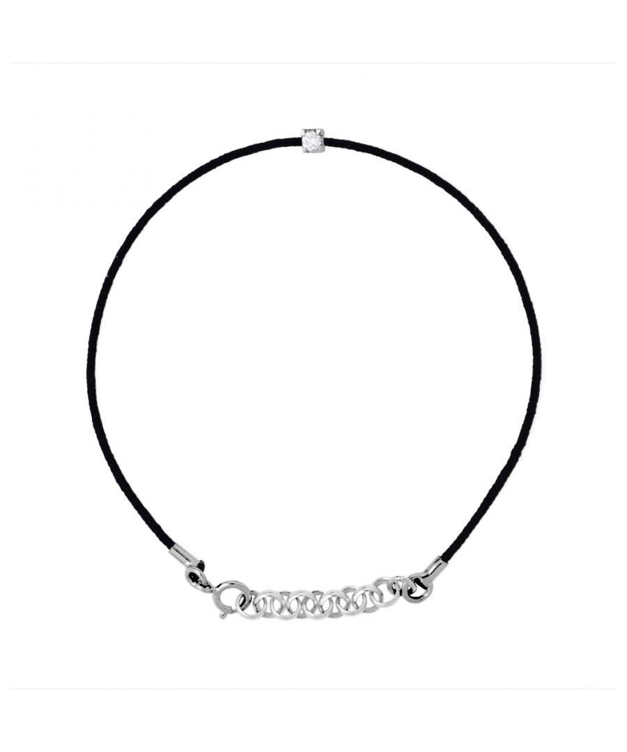 Image for DIADEMA - Bracelet - Black Nylon - Real Diamond