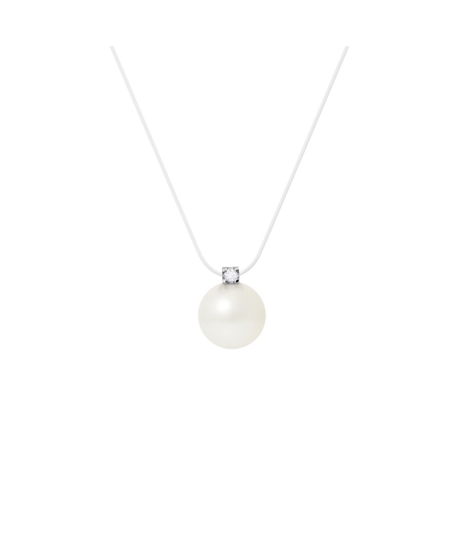 Image for DIADEMA - Necklace - Nylon - White Freshwater Pearl and Real Diamond