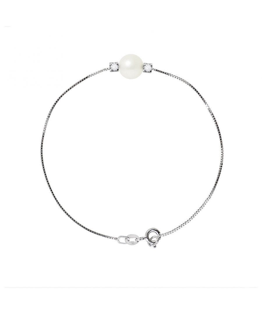 Image for DIADEMA - Bracelet - Silver - Freshwater Pearl and Diamonds